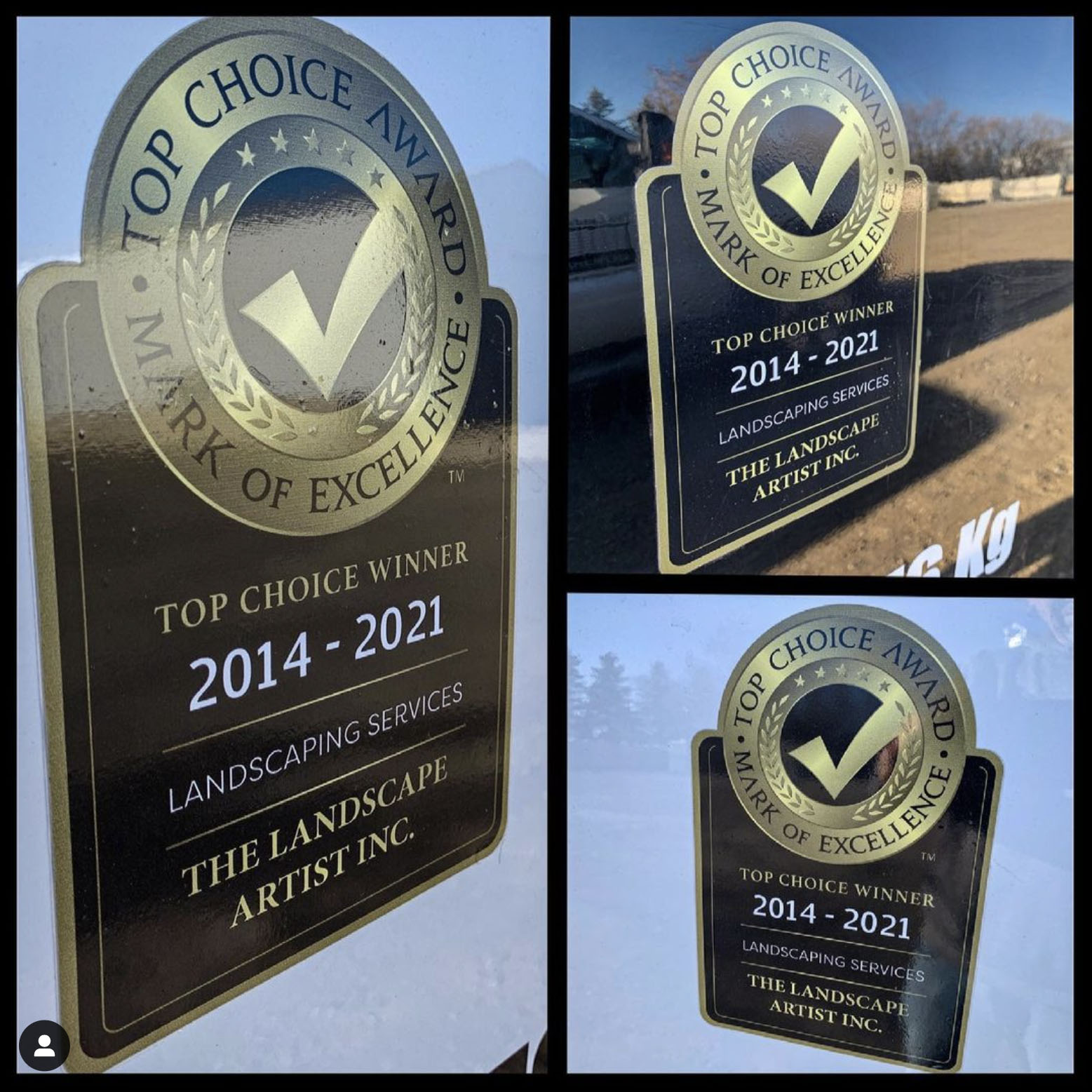 Top Choice Winner for best landscaping services in Calgary