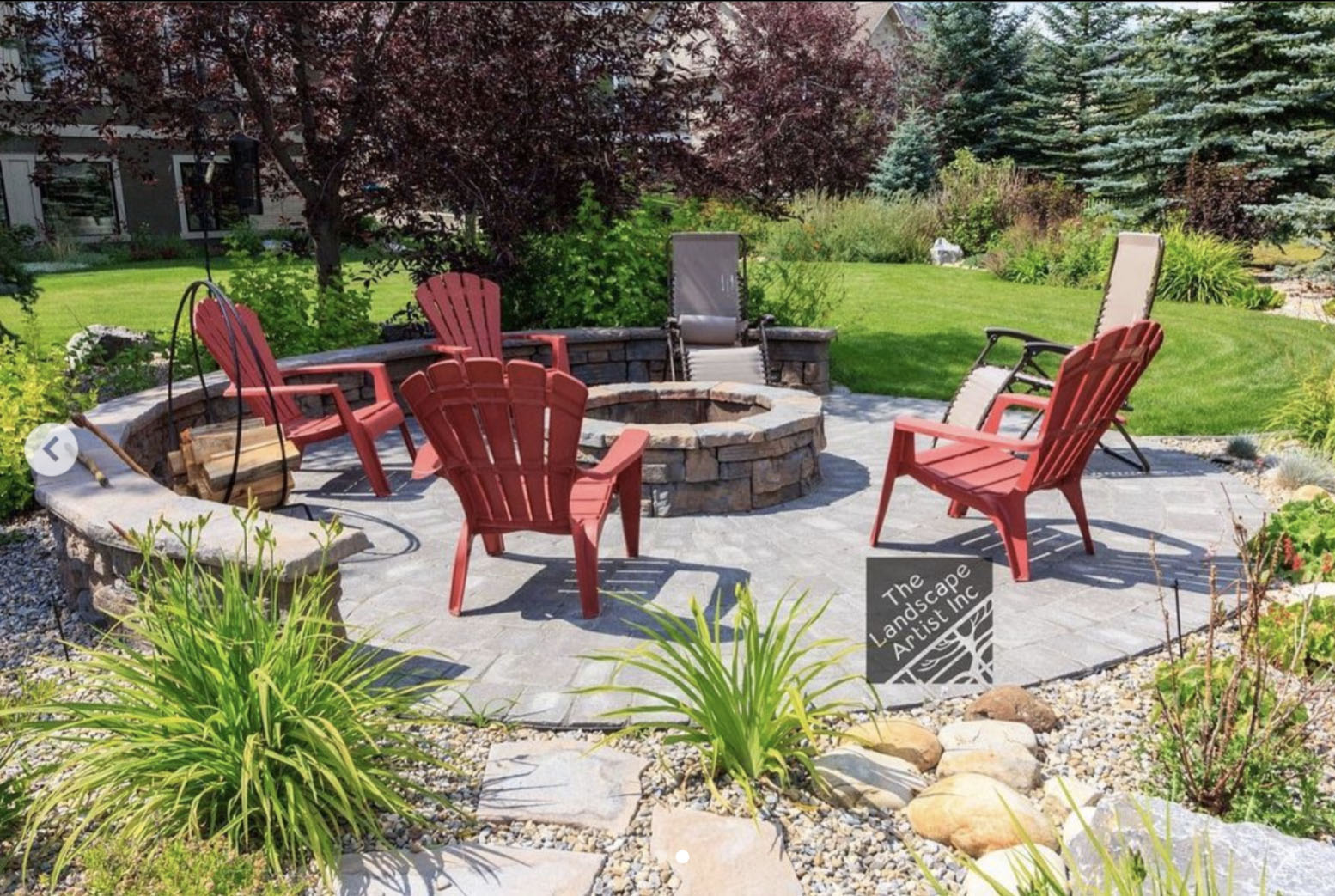 landscaping with backyard patio